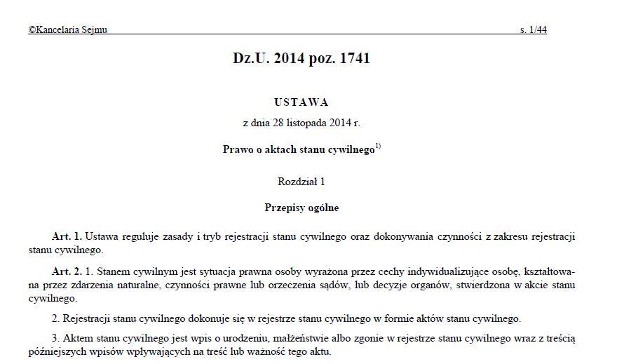 Udostępnianie przez USC aktów stanu cywilnego po upływie okresu przechowywania