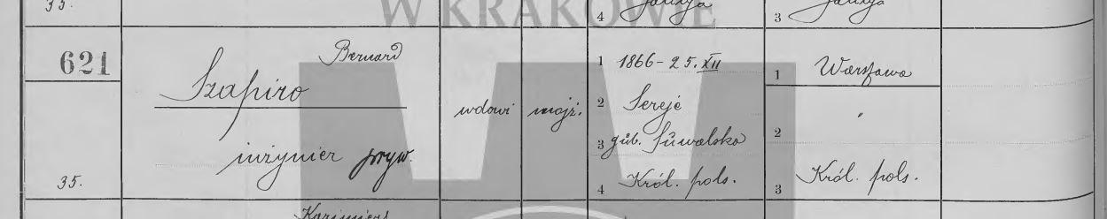 Spis ludności Krakowa z roku 1910 /fot. Małopolska Biblioteka Cyfrowa