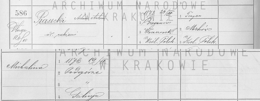 Spis ludności m. Krakowa z 1900 r. /fot. szukajwarchiwach.pl