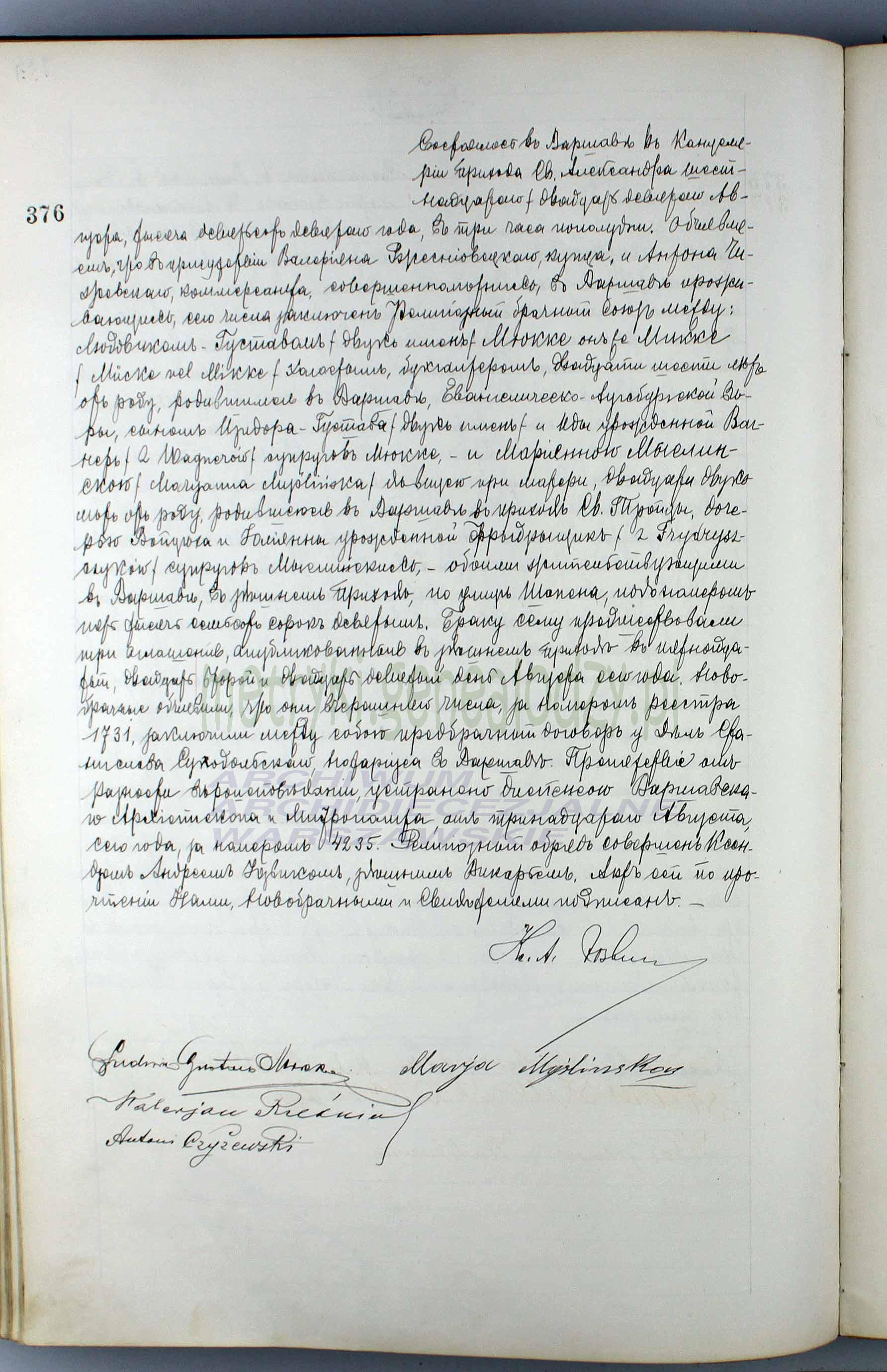 Ludwik Gustaw Mikke ślub