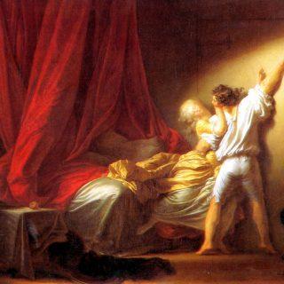 fot. JEAN HONRE FRAGONARD, The Bolt, 1778, oil on canvas, Louvre, Paris.