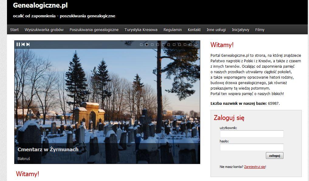 fot. screen portalu genealogiczne.pl