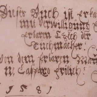 Księga cechu sukienników w Bielsku 1576-1602/ fot. Alan Jakman