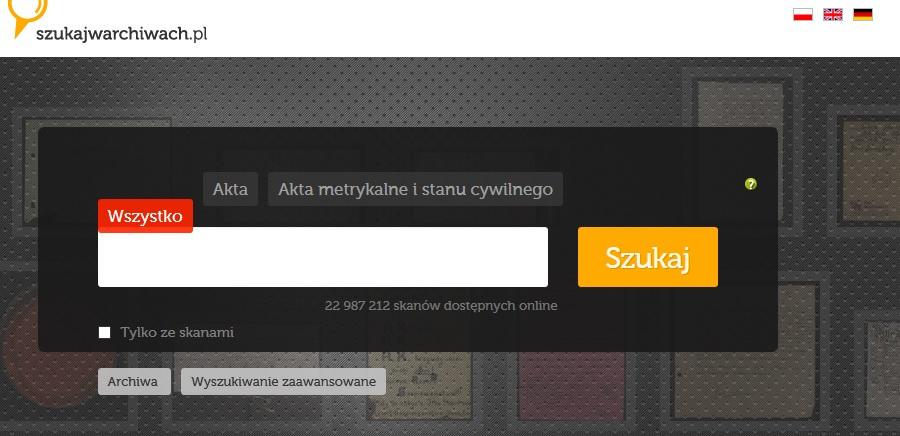 Ponad 1,5 miliona nowych skanów w szukajwarchiwach.pl! Aktualizacje baz danych [nowości w NAC]