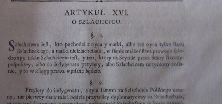 Kodeks Zamoyskiego - zapisy o szlachcicach i chłopach