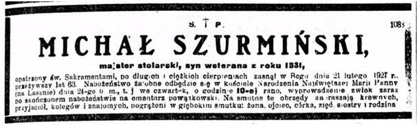 Nekrolog Michała Szurmińskiego/ fot. eBUW